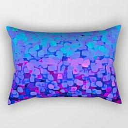 Sparkles Glitter Blue Rectangular Pillow