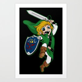 Legend of Zelda: A New Hero Art Print