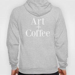Art + Coffee graphic design Hoody