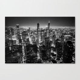 Nighttime Chicago Skyline Canvas Print