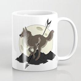 Wolf Moon and Arrow Coffee Mug