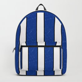 Simple blue, white stripes. Backpack