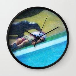 Animal save the human Wall Clock