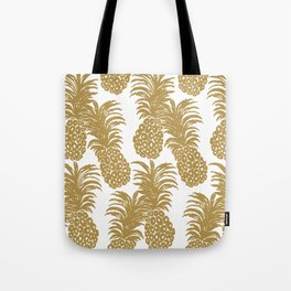 Gold Pineapples Tote Bag