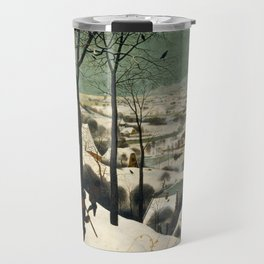 Hunters in the Snow (Winter) Travel Mug