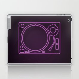 Neon Turntable 1 - 3D Art Laptop & iPad Skin