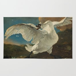 The Threatened Swan by Jan Asselijn Rug