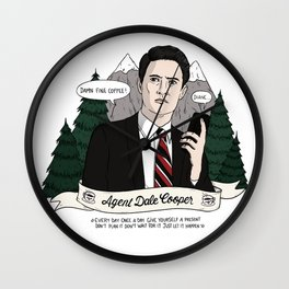 Twin Peaks (David Lynch) Agent Dale Cooper Wall Clock