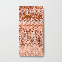 paisley floral in earth Metal Print
