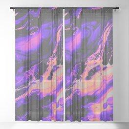 ABNORMAL BEHAVIOR & UNCONTROLLABLY VAPOR Sheer Curtain