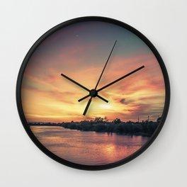 Sunset River - Sacramento River Wall Clock