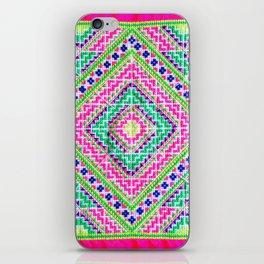 Hmong love square cross stitch iPhone Skin