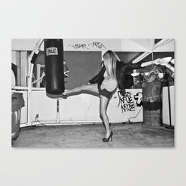 Heel Kick Canvas Print