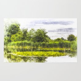 The Lily Pond Art Rug