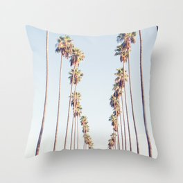 Palm tree stripes Throw Pillow
