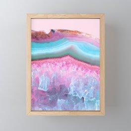 Rose Quartz and Serenity Agate Framed Mini Art Print