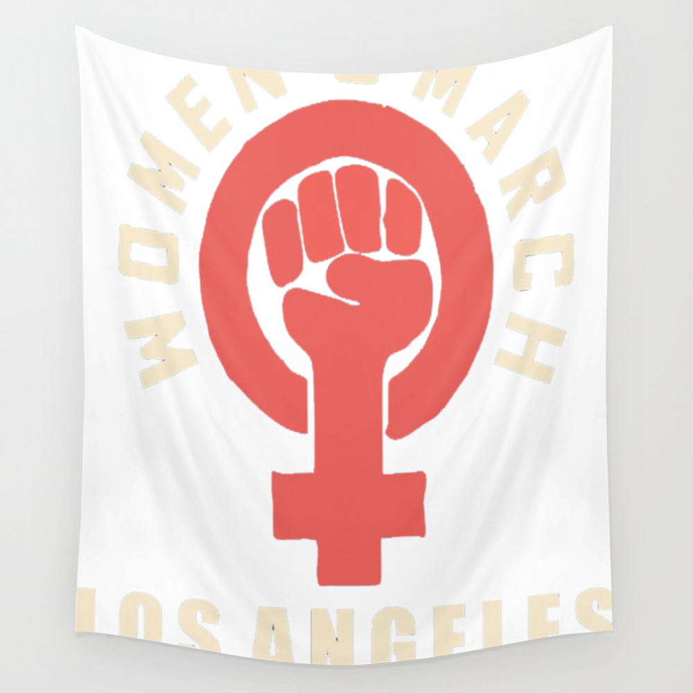 Women's March 2018 Los Angeles (feminist) Copy Wall Tapestry by Elizabethgilbreth28 TPS8600305