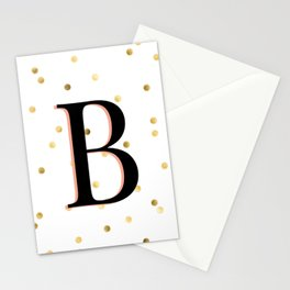 Letter B - Initial Stationery Cards