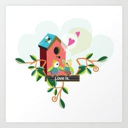 Love is. Art Print