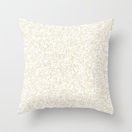 Tiny Spots - White and Pearl Brown Throw Pillow