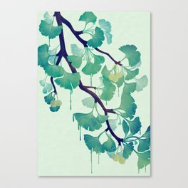 O Ginkgo (in Green) Canvas Print