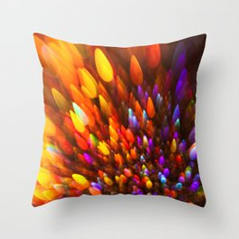 Champagne Sparkles and Color Bomb Burst Throw Pillow