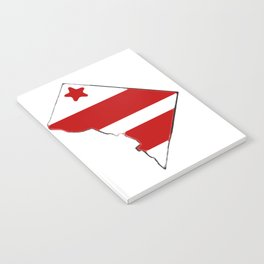 Washington DC District of Columbia Map with Flag Notebook