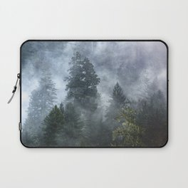 Smoky Redwood Forest Foggy Woods - Nature Photography Laptop Sleeve