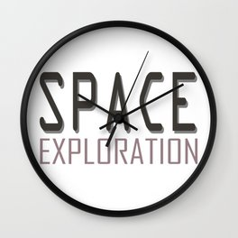 Space exploration purple Wall Clock