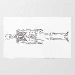 Human body skeleton Rug