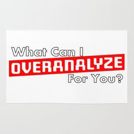 What Can I OVERANALYZE For You? Rug
