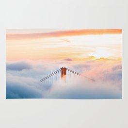 Golden Gate Bridge at Sunrise from Hawk Hill - San Francisco, California Rug