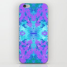 95 - Ice colour abstract pattern iPhone Skin