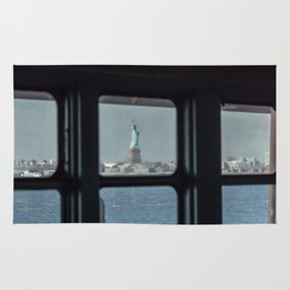 Statue of Liberty from the ferry Rug