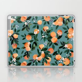 Dear Clementine - oranges teal by Crystal Walen Laptop & iPad Skin