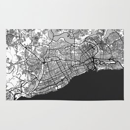 Santo Domingo Map Gray Rug