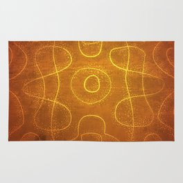 Chladni Pattern - Yellow by Spencer Gee Rug