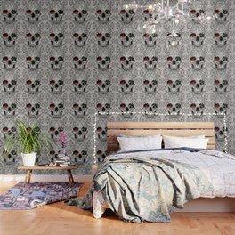 Lace Skull Light Wallpaper