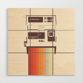 Instant Camera Rainbow Wood Wall Art