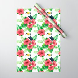Toucan and tropical bouquet Wrapping Paper