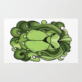 Lion - Greenery Green Rug