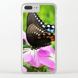 Swallow Tail Butterfly Clear iPhone Case
