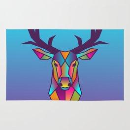 Deer | Geometric Colorful Low Poly Animal Set Rug