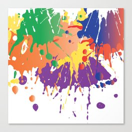Colourful Paint splash Canvas Print