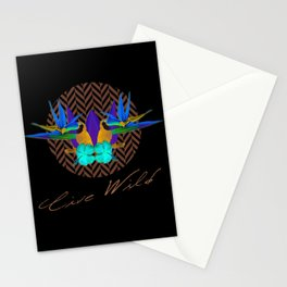 Live Wild Stationery Cards