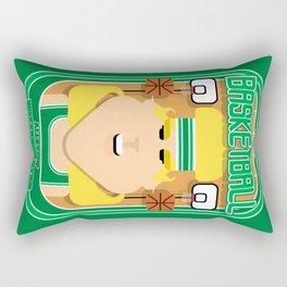 Basketball Green - Alleyoop Buzzerbeater - Hazel version Rectangular Pillow