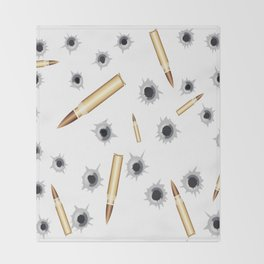 BULLETS N BULLET HOLES Throw Blanket