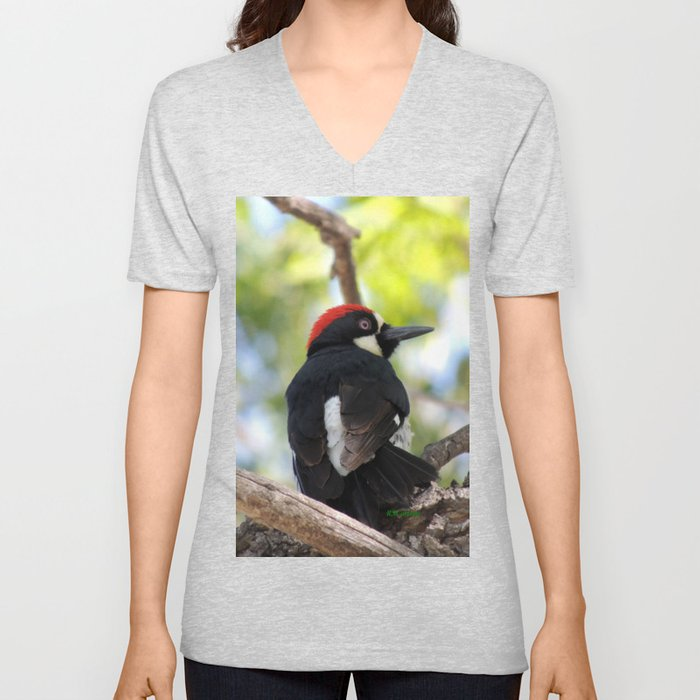Acorn Woodpecker in Malibu Unisex V-Neck