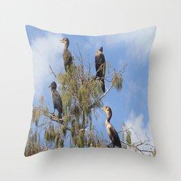 Cormoran Tree Throw Pillow