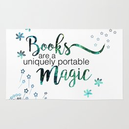 Books are a uniquely portable magic. (book quotes) Rug